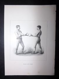 Badminton Library 1893 Antique Boxing Print. On Guard